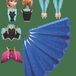 Molde Princesa Ana Frozen Paper Craft PNG e Vetor