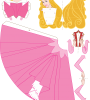 Molde Princesa Aurora Paper Craft