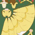 Molde Princesa Bela Paper Craft PNG