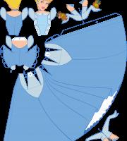 Molde Princesa Cinderela Paper Craft PNG