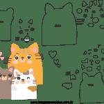 Molde de dia das mães 6 para feltro, eva e artesanato