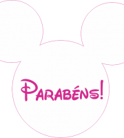 Turma do Mickey - Cabeça Parabéns Minnie Rosa