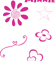 Turma do Mickey - Detalhes Minnie Rosa