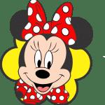 Turma do Mickey – Minnie Vermelha Rosto 2 Png