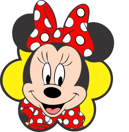 Turma Do Mickey Minnie Vermelha Rosto 2 Png Imagens