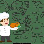 Molde de  Chefe de Cozinha 1 para Feltro, Eva e Artesanato