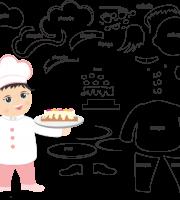 Molde de Chefe de Cozinha 2 para Eva, Feltro e Artesanato