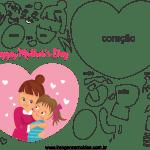 Molde de dia das mães 1 para feltro, eva e artesanato