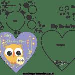 Molde de dia das mães 19 para Feltro, Eva e Artesanato