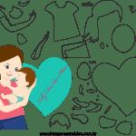 Molde de dia das mães 2 para feltro, eva e artesanato
