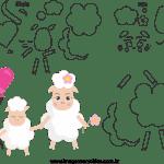 Molde de dia das mães 7 para feltro, eva e artesanato