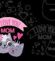 Molde de Dia das Mães 8 para Eva, Feltro e Artesanato