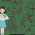 Molde de Veterinária 1 para Feltro – EVA e Artesanato