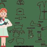 Molde de Veterinária 2 para Feltro – EVA e Artesanato
