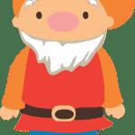 Branca de Neve Cute -Sete Anões – Atchim Vetor e Png