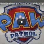 Como fazer Poster/Banner em Papel A4 usando a opção Ladrilho no Corel Draw