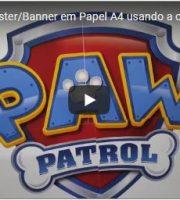 Como fazer Poster Banner em Papel A4 usando a opção Ladrilho no Corel Draw