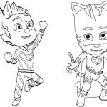 Desenhos para colorir – Heróis de Pijama