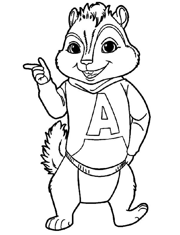 Desenhos Para Colorir Do Alvin E Os Esquilos