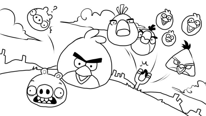 25 Desenhos Do Angry Birds Para Colorir Em Casa: Desenhos Para Colorir Do Angry Birds