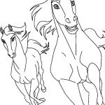 Desenhos para colorir do Spirit