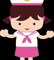 Marinheira Cute - Marinheira Castanho PNG e Vetor