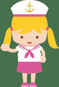 Marinheira Cute - Marinheira Loira