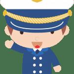 Marinheiro Cute – Capitão PNG e Vetor