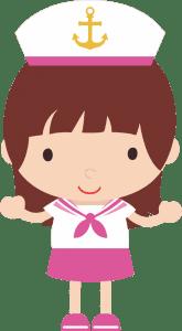 Marinheiro Cute - Menina Marinheira
