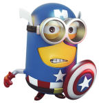 Meu Malvado Favorito – Minions Capitão América PNG