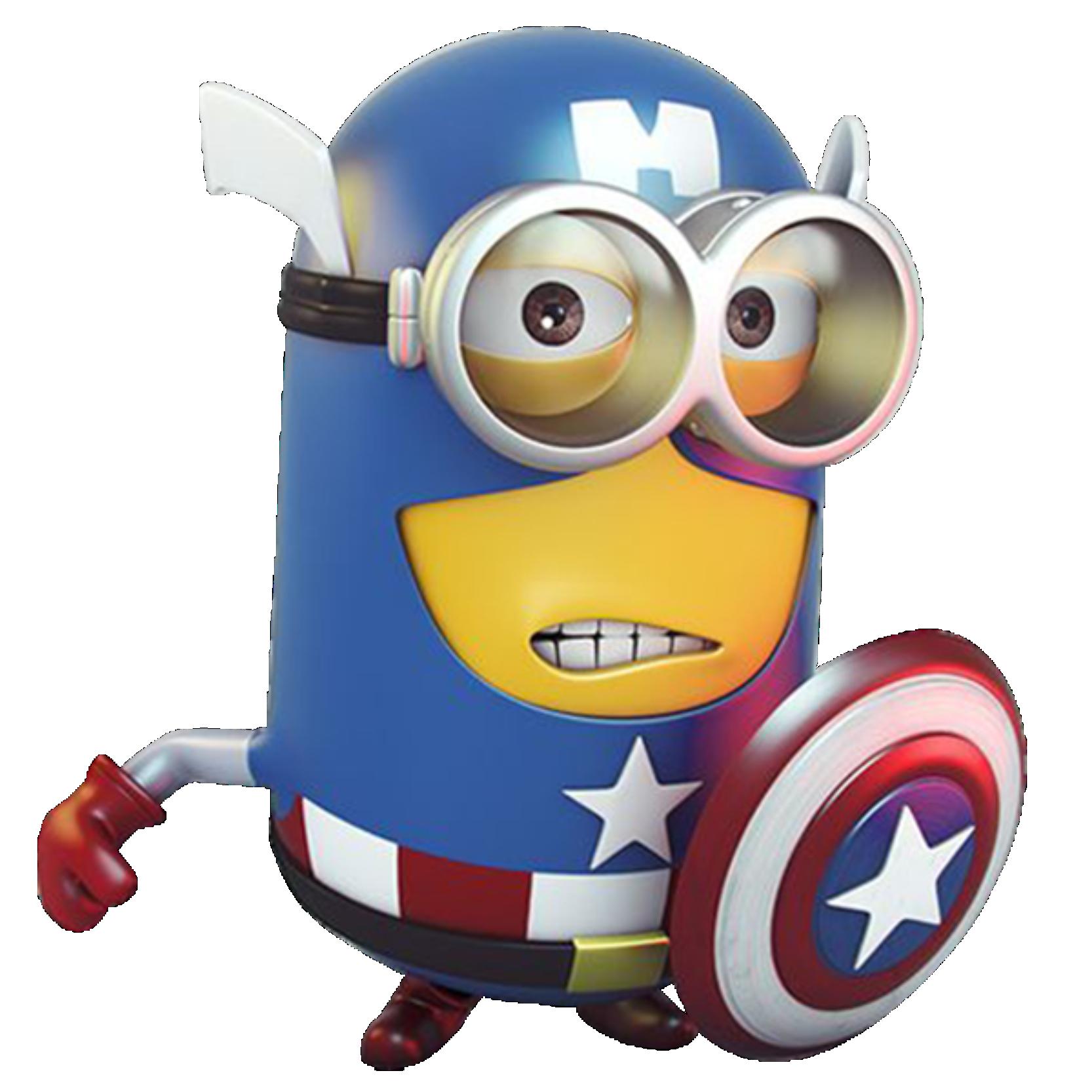 Meu Malvado Favorito - Minions Capitão América, evil favorite – minions, favorito del mal – minions, böser Favorit - Günstlinge