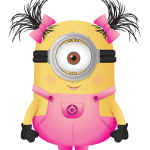 Meu Malvado Favorito – Minions Menina Rosa PNG