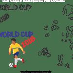 Molde de Copa do Mundo 10 para Feltro, Eva e Artesanato
