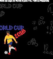 Molde de Copa do Mundo 10 para Eva, Feltro e Artesanato