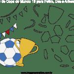 Molde de Copa do Mundo 13 para Feltro, Eva e Artesanato