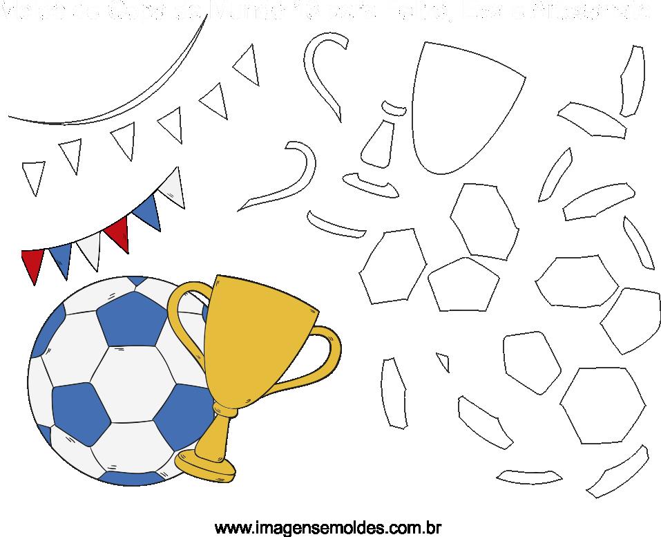 Molde de Copa do mundo 13 para Eva, Feltro e Artesanato, Weltmeisterschaft Schimmel, molde de la copa del mundo, world cup mold