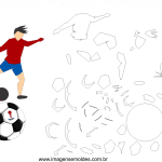 Molde de Copa do Mundo 14 para Feltro, Eva e Artesanato