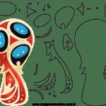 Molde de Copa do Mundo 3 para Feltro, Eva e Artesanato