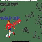 Molde de Copa do Mundo 9 para Feltro, Eva e Artesanato
