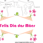 Molde de dia das mães 29 para Feltro, Eva e Artesanato
