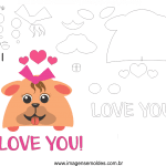 Molde de Dia dos namorados 10 para Feltro, Eva e Artesanato