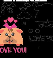 Molde de Dia dos Namorados 10 para Eva, Feltro e Artesanato