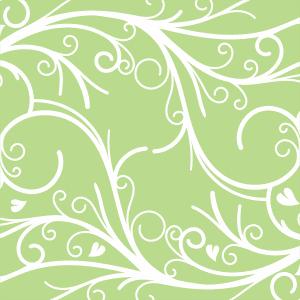 Moranguinho - Papel Digital Verde Arabescos