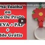 Porta Toalha/Pano de Prato em EVA+ Molde grátis + PAP