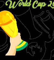 Molde de Copa do Mundo 1 para Feltro, Eva e Artesanato