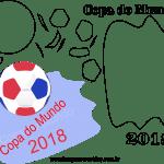 Molde de Copa do Mundo 2 para Feltro, Eva e Artesanato