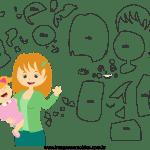 Molde de dia das mães 31 para Feltro, Eva e Artesanato