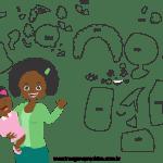 Molde de dia das mães 32 para Feltro, Eva e Artesanato