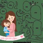 Molde de dia das mães 33 para Feltro, Eva e Artesanato