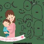 Molde de dia das mães 34 para Feltro, Eva e Artesanato